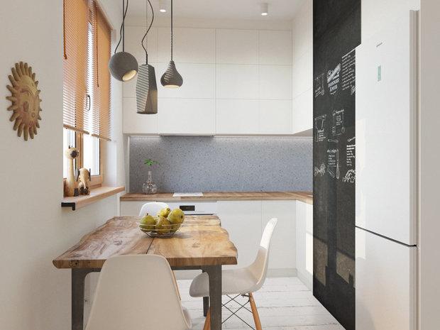 Фотография: Кухня и столовая в стиле Современный, Перепланировка, Finish – фото на InMyRoom.ru