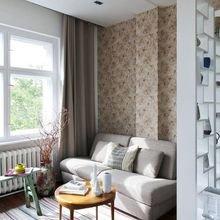 Фотография: Гостиная в стиле Скандинавский, Советы, как совместить спальню с гостиной, как обустроить в одной комнате две зоны, зонирование комнаты – фото на InMyRoom.ru