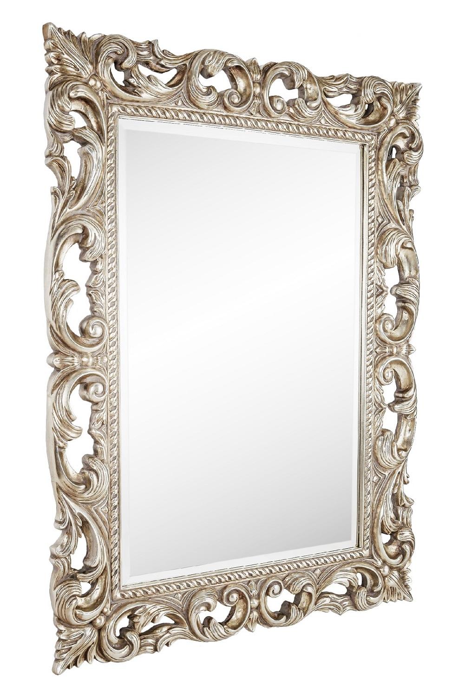 Настенное зеркало Oxford Silver в резной раме