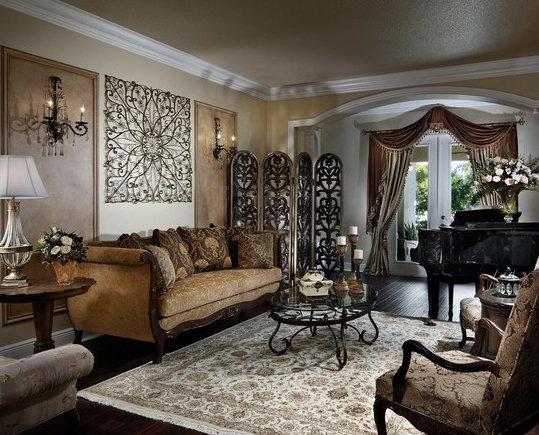 Фотография: Гостиная в стиле Классический, Декор интерьера, Декор дома, Цвет в интерьере, Обои – фото на InMyRoom.ru
