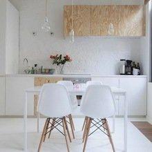 Фотография: Кухня и столовая в стиле Эко, Современный, Малогабаритная квартира, Квартира, Мебель и свет, дизайн маленькой кухни, как обустроить маленькую кухню, идеи для маленькой кухни, kuhnya-8-kv-metrov – фото на InMyRoom.ru