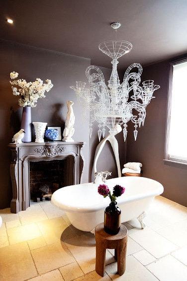 Фотография: Ванная в стиле Прованс и Кантри, Эклектика, Декор интерьера, Квартира, Дома и квартиры – фото на InMyRoom.ru
