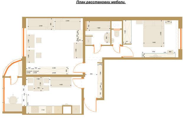 Фотография: Планировки в стиле , Современный, Квартира, Проект недели, Москва, Панельный дом, 2 комнаты, 40-60 метров, Анна Елина – фото на INMYROOM