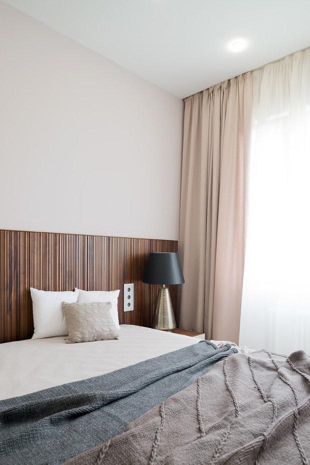 Фотография: Спальня в стиле Минимализм, Эко, Классический, Квартира, Проект недели, Москва, Бежевый – фото на InMyRoom.ru