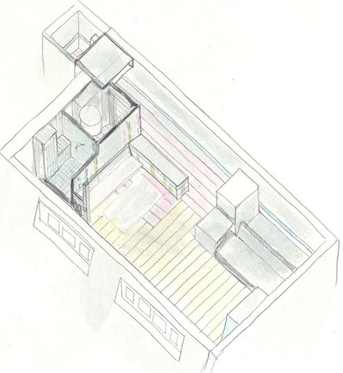 Фотография: Планировки в стиле , Малогабаритная квартира, Квартира, Франция, Дома и квартиры, Париж – фото на INMYROOM