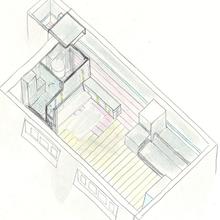 Фотография: Планировки в стиле , Малогабаритная квартира, Квартира, Франция, Дома и квартиры, Париж – фото на InMyRoom.ru