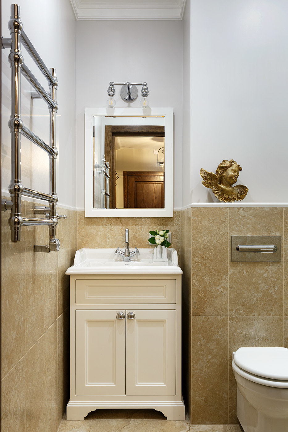 Фотография: Ванная в стиле Классический, Квартира, Проект недели, Санкт-Петербург, Монолитный дом, 4 и больше, Более 90 метров, Дизайн-Холл – фото на InMyRoom.ru