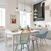 Фотография: Кухня и столовая в стиле Лофт, Скандинавский, Квартира, Дома и квартиры, Проект недели – фото на InMyRoom.ru