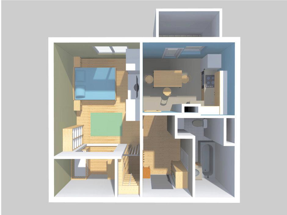 Фотография: Планировки в стиле , Квартира, Перепланировка, Москва, Подмосковье, Ксения Чупина, перепланировка однокомнатной квартиры, КОПЭ, перепланировка однокомнатной квартиры в панельном доме, перепланировка однокомнатной квартиры в КОПЭ, как обустроить однушку в панельном доме, как сделать перепланировку однушки в типовом доме – фото на InMyRoom.ru