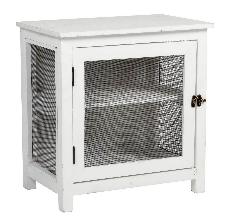 Настольный шкафчик-витрина с одной дверкой