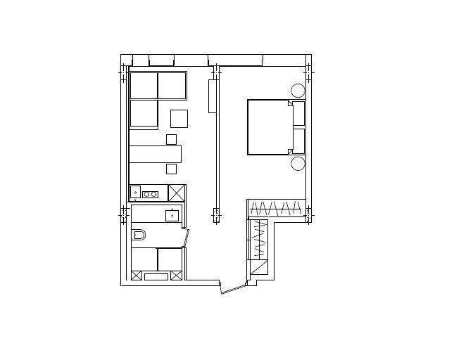 Фотография: Планировки в стиле , Малогабаритная квартира, Квартира, Украина, Дома и квартиры – фото на InMyRoom.ru