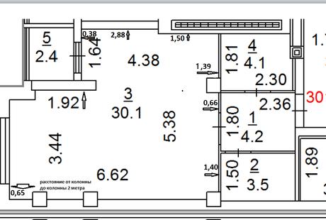Как расставить мебель в студии 44 кв.м