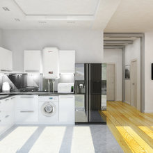 Фото из портфолио Дизайн двухэтажного коттеджа общей площадью 200 кв. м – фотографии дизайна интерьеров на InMyRoom.ru