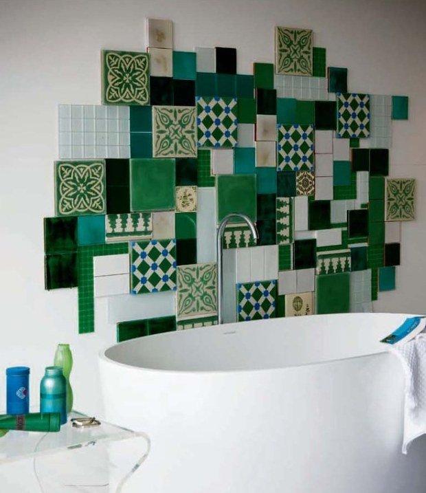 Фотография: Ванная в стиле Эклектика, Декор интерьера, Текстиль, Декор, Декор дома, Пэчворк – фото на InMyRoom.ru
