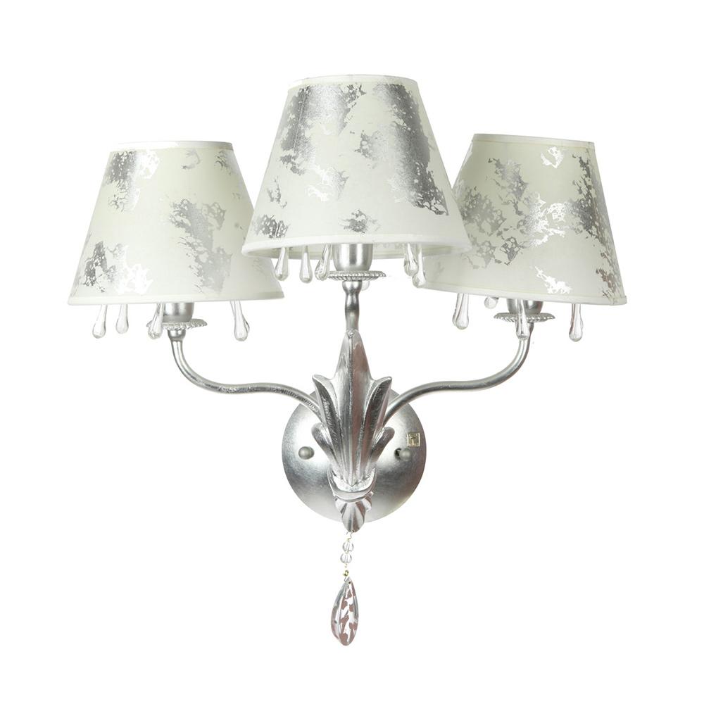 Бра Isa Corsi Hermitage с плафонами декорированными серебряной фольгой