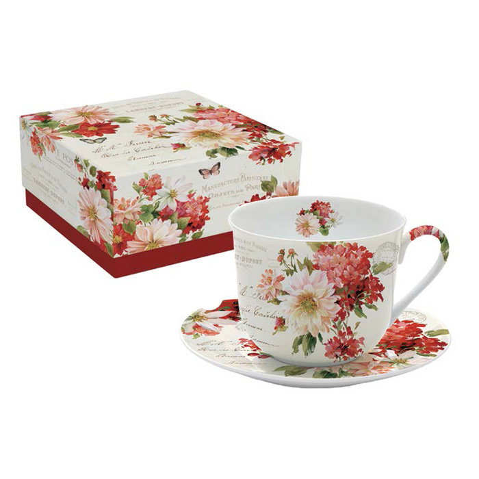 Чашка с блюдцем Осенний сад