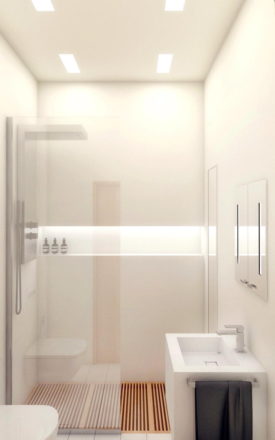 Фотография: Ванная в стиле Современный, Восточный, Квартира, Дома и квартиры, Минимализм, Проект недели – фото на InMyRoom.ru