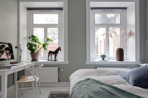 Фотография: Спальня в стиле Скандинавский, Декор интерьера, Квартира, Швеция, 2 комнаты, 40-60 метров, Alvhem – фото на InMyRoom.ru