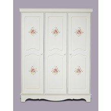 """Шкаф трехстворчатый """"Belle Fleur Blanc"""" с объемным рисунком"""