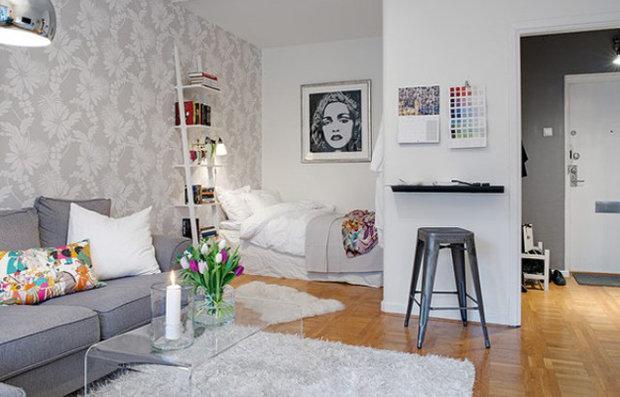 Фотография: Гостиная в стиле Скандинавский, Декор интерьера, Малогабаритная квартира, Декор дома – фото на InMyRoom.ru