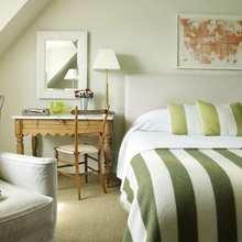 Фотография: Спальня в стиле Кантри, Современный, Декор интерьера, Квартира, Дизайн интерьера, Цвет в интерьере – фото на InMyRoom.ru