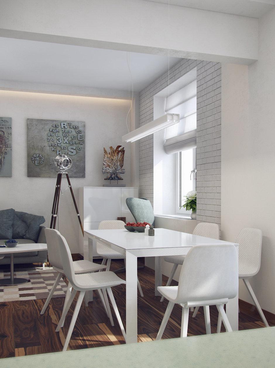Фотография: Кухня и столовая в стиле Современный, Минимализм, Эклектика, Квартира, Проект недели – фото на InMyRoom.ru