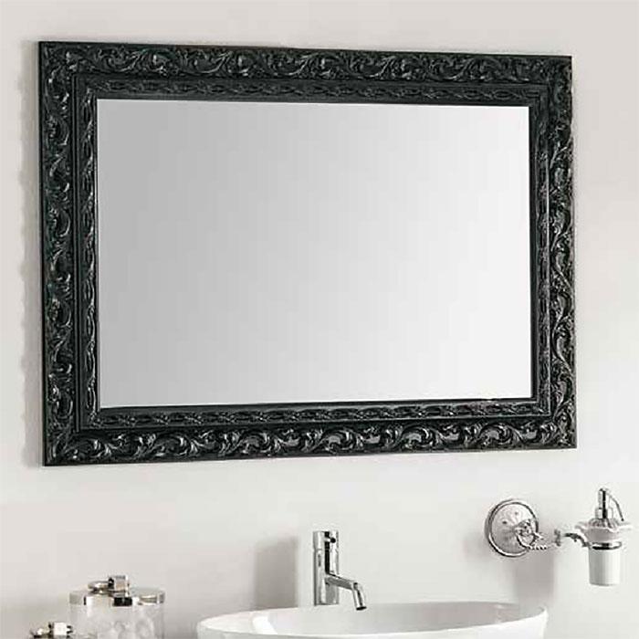 Купить Настенное зеркало Barocco в деревянной раме черного цвета, inmyroom, Италия
