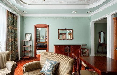Фотография: Гостиная в стиле Прованс и Кантри, Дизайн интерьера – фото на InMyRoom.ru