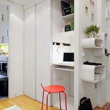 Фотография: Прихожая в стиле Современный, Аксессуары, Декор, Мебель и свет, Советы, Белый, белая комната, идеи для белой прихожей – фото на InMyRoom.ru