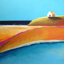 Картина (репродукция, постер): Landscape in layers No. 4 - Тьяса Оуэн