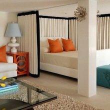 Фотография: Спальня в стиле Эклектика, Малогабаритная квартира, Квартира, Дома и квартиры – фото на InMyRoom.ru