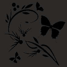Настенная зеркальная панель: Живой цветок