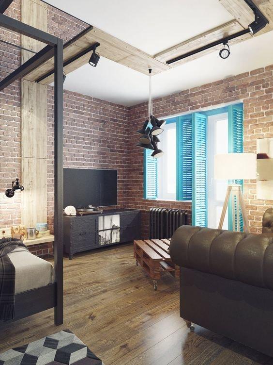 Фотография: Гостиная в стиле Лофт, Советы, как зонировать студию, Марина Лаптева – фото на InMyRoom.ru