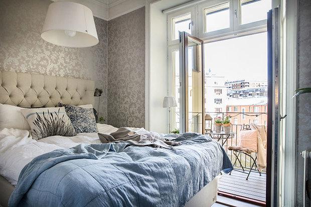 Фотография: Спальня в стиле Скандинавский, Декор интерьера, Квартира, Швеция, 3 комнаты – фото на InMyRoom.ru