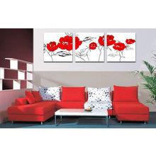 Модульная картина от дизайнера: Алые розы