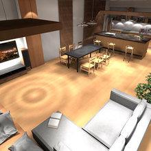 Фотография: Гостиная в стиле Современный, Декор интерьера, Дизайн интерьера, Цвет в интерьере, Белый, Серый, Бирюзовый – фото на InMyRoom.ru