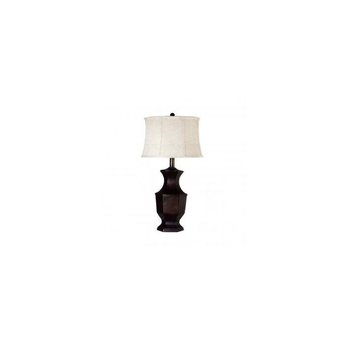 Лампа Resin table lamp with shade, black