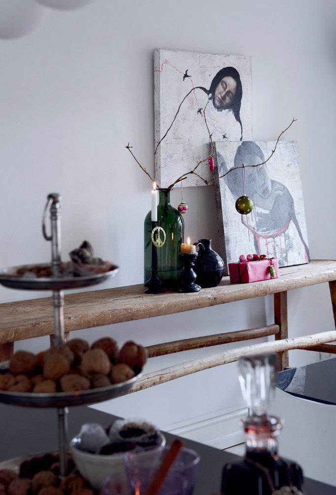 Фотография: Декор в стиле Скандинавский, Декор интерьера, Малогабаритная квартира, Квартира, Праздник, Цвет в интерьере, Дома и квартиры, Белый – фото на InMyRoom.ru