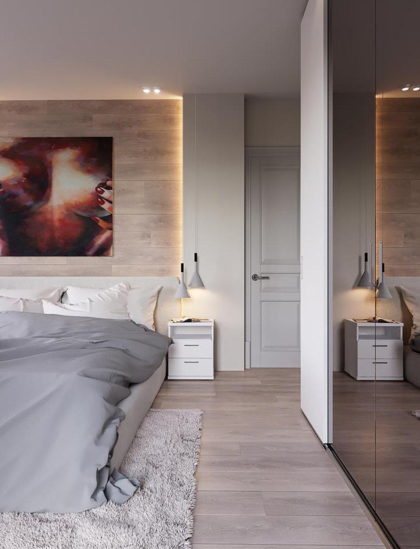 Фотография: Спальня в стиле Минимализм, Квартира, Проект недели, 2 комнаты, Более 90 метров, Монолитно-кирпичный, Киевская область, Руслан Ковальчук, ЖК «Чайка», Artpartner – фото на InMyRoom.ru