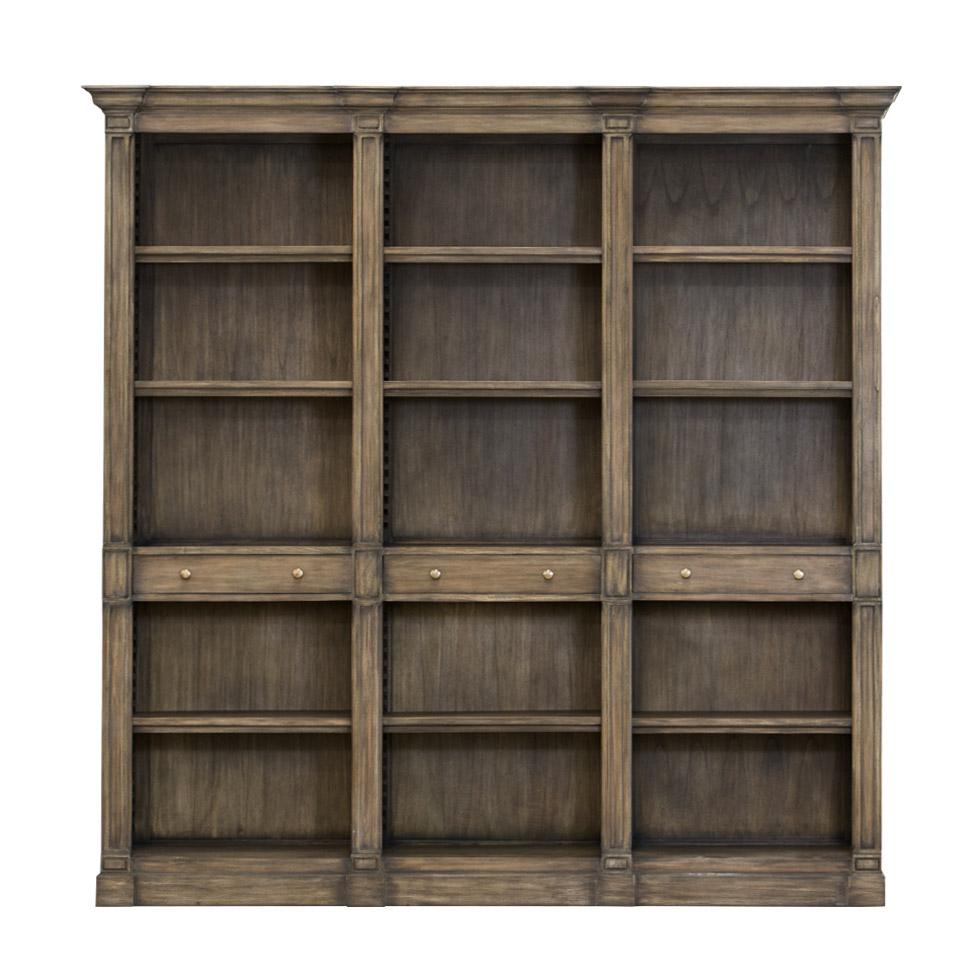 Книжный шкаф Abedreen Triple из дерева махагони