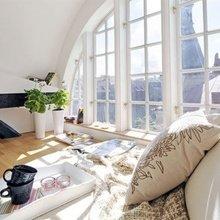 Фотография: Спальня в стиле Скандинавский, Современный, Дизайн интерьера, Большие окна – фото на InMyRoom.ru