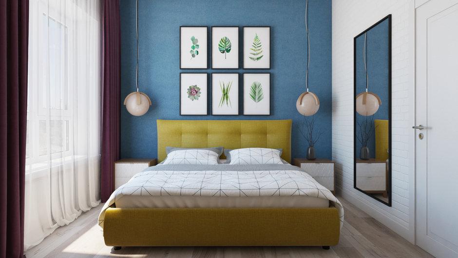 Фотография: Спальня в стиле Современный, Квартира, Проект недели, Химки, Евгения Матвеенко, FlatsDesign, Монолитный дом, 2 комнаты, 40-60 метров, ЖК Маяк – фото на InMyRoom.ru