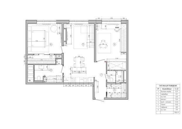 Фотография: Планировки в стиле , Современный, Квартира, Проект недели, Samsung, Монолитный дом, 3 комнаты, 60-90 метров, ЖК Headliner, Леся Печенкина – фото на INMYROOM