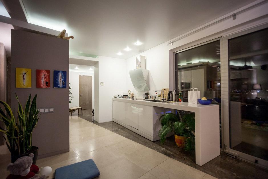 Фотография: Гостиная в стиле Лофт, Современный, Квартира, Дома и квартиры – фото на InMyRoom.ru