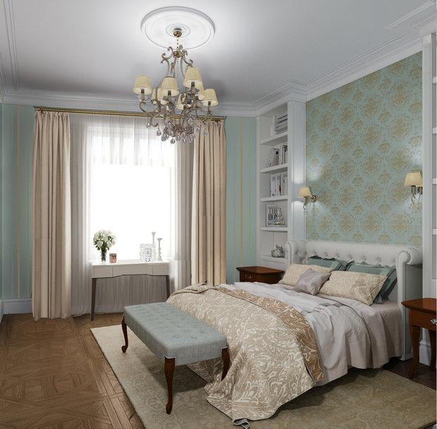 Фотография: Спальня в стиле Классический, Советы, Потолок, Ольга Кондратова – фото на InMyRoom.ru