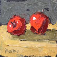 Картина (репродукция, постер): 2 apples apart strokes - Кетлин Рехфелд