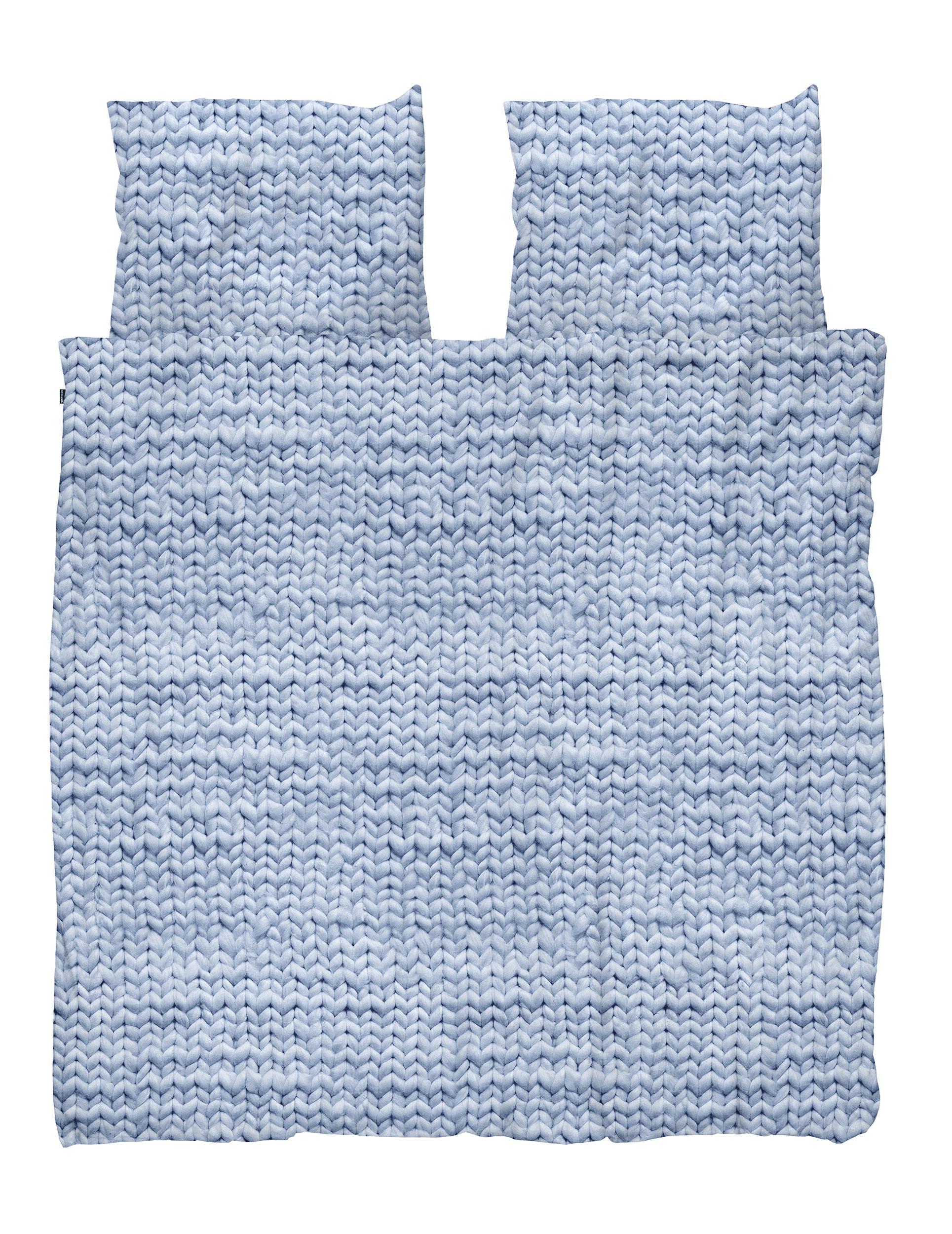 Купить Комплект постельного белья Косичка синий фланель 200х220, inmyroom, Нидерланды