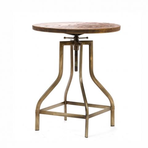 """Кофейный стол """"Tulip Plock"""" с деревянной столешницей"""