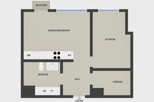 Фотография: Прочее в стиле , Скандинавский, Малогабаритная квартира, Квартира, Цвет в интерьере, Дома и квартиры – фото на InMyRoom.ru