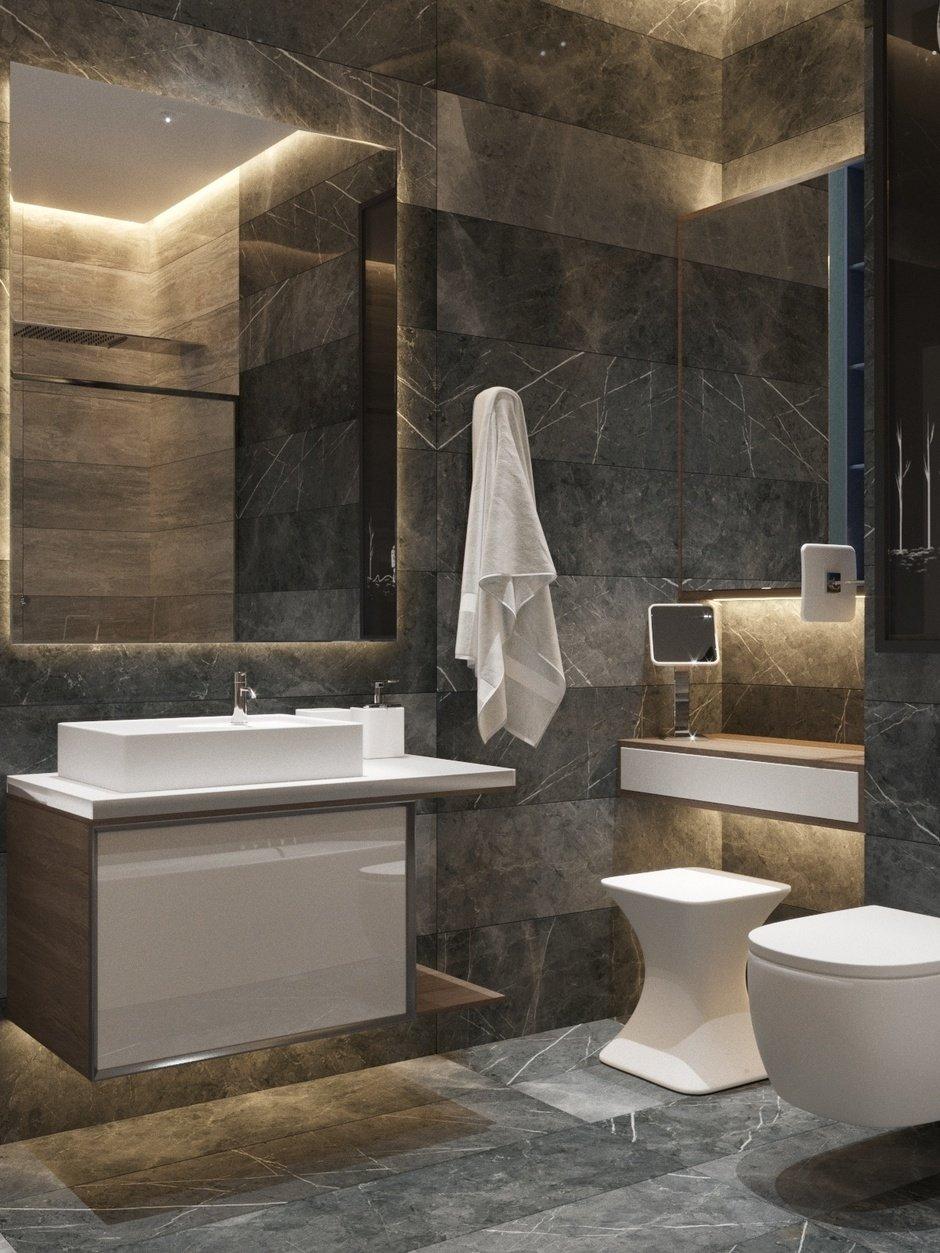 Фотография: Ванная в стиле Современный, Квартира, Проект недели, Павел Алексеев, 3 комнаты, Более 90 метров, Монолитно-кирпичный, «Парк Рублево» – фото на InMyRoom.ru